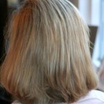 Blond met donkere highlights